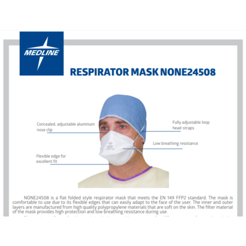 Medline 20x  FFP2 premium mondmasker zonder ventiel Medline