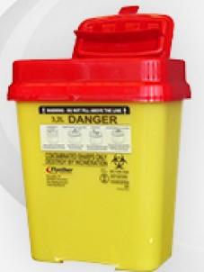 Naaldencontainer 3,2 liter UN3291 BS7320:1990 per 1 stuk