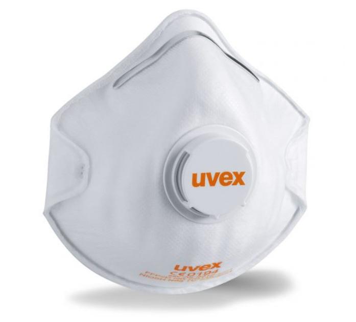 15x  Uvex silv-Air FFP2 NR D met ventiel