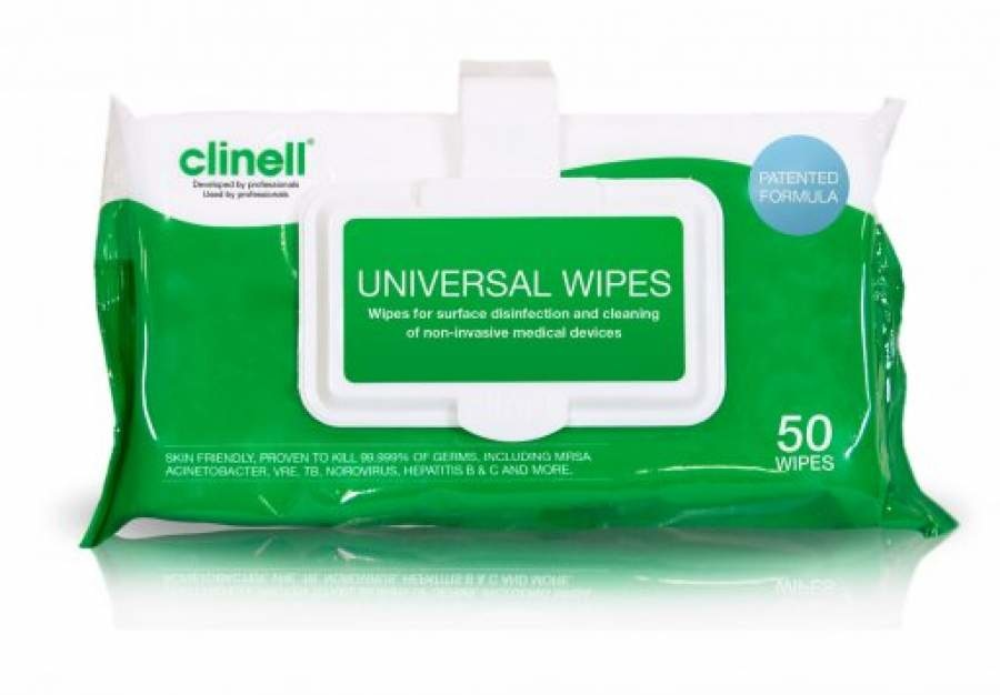 Clinell Universele Doekjes Clip Pack 50st CWCP50