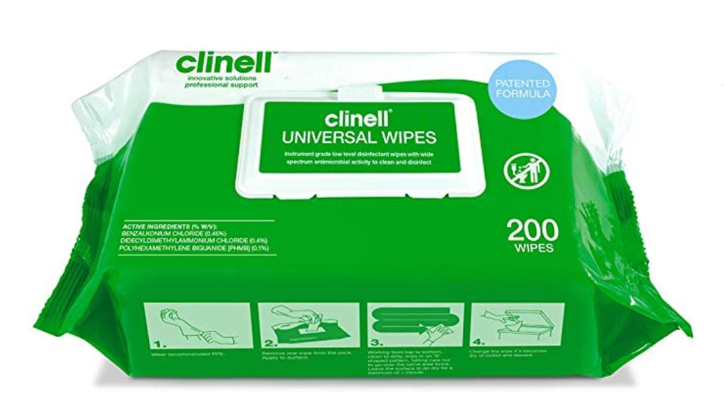 Clinell Universele Doekjes 200st Cw200