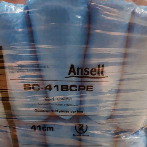 Ansell 1000x Ansell blauw  PE schoenovertrek 15x41cm