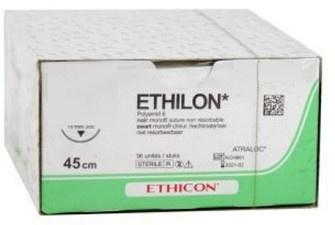 ETHILON ZWART MONOFIL 5-0 698H