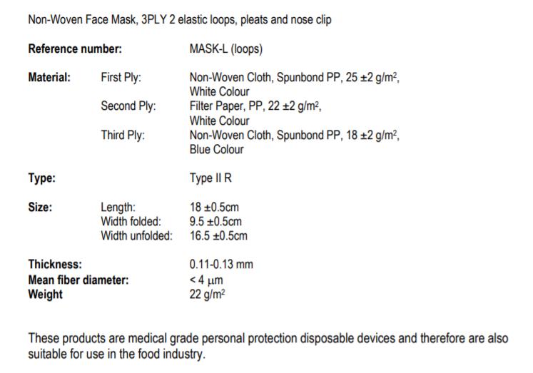Romed 50x  premium Type2R  mondkapjes chirurgische