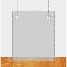 Spatscherm hangend zonder doorgeefluik 76x76cm