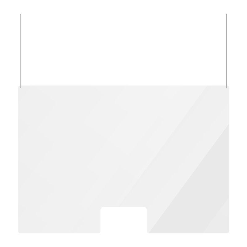Spatscherm hangend zonder doorgeefluik 99x99cm