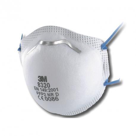 10x 3M 8320 FFP2 mondmasker zonder ventiel