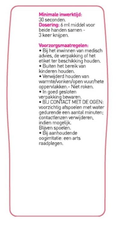 Body Benefits 100ml handdesinfectie handgel Body Benefits