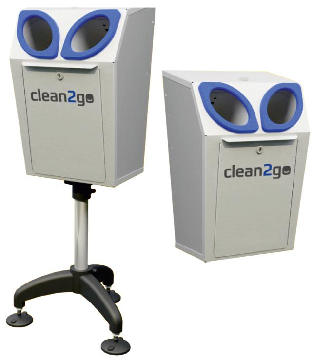Hygienezuil Clean2Go 5 liter met circulair concept