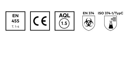 Unigloves 10x100 nitril ZWARTE onderzoekshandschoenen
