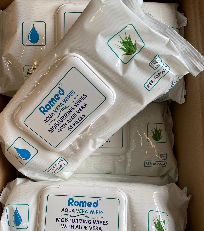 romed 12 flowpacks a 64 vochtige verpleegdoekjes huidverzorgend