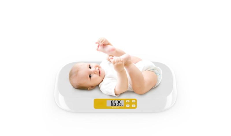 Babyweegschaal digitaal met hold en tarra functie
