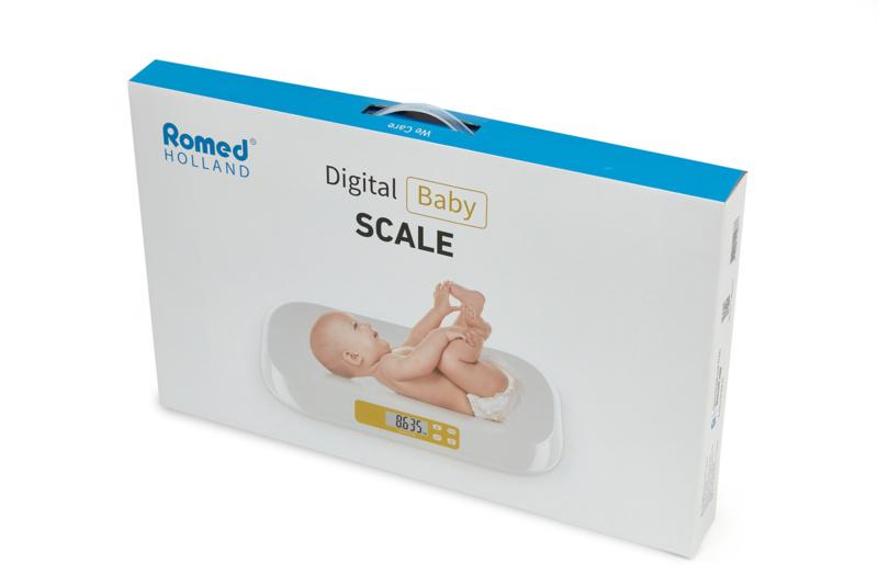 Romed Babyweegschaal digitaal met hold en tarra functie