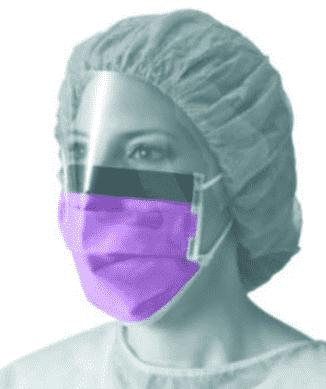 100x NON27710 vloeistofbestendig mondmasker vizier Max X paars