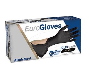 Zwarte dikke nitril handschoenen 100 st