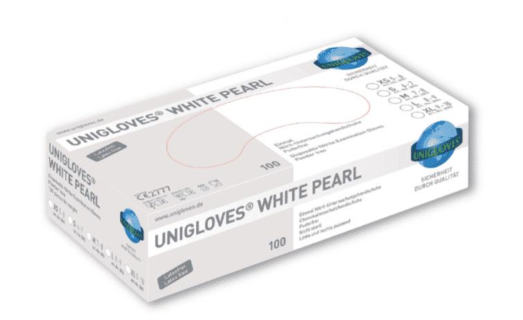 10x100 Pearl nitril witte onderzoekshandschoenen