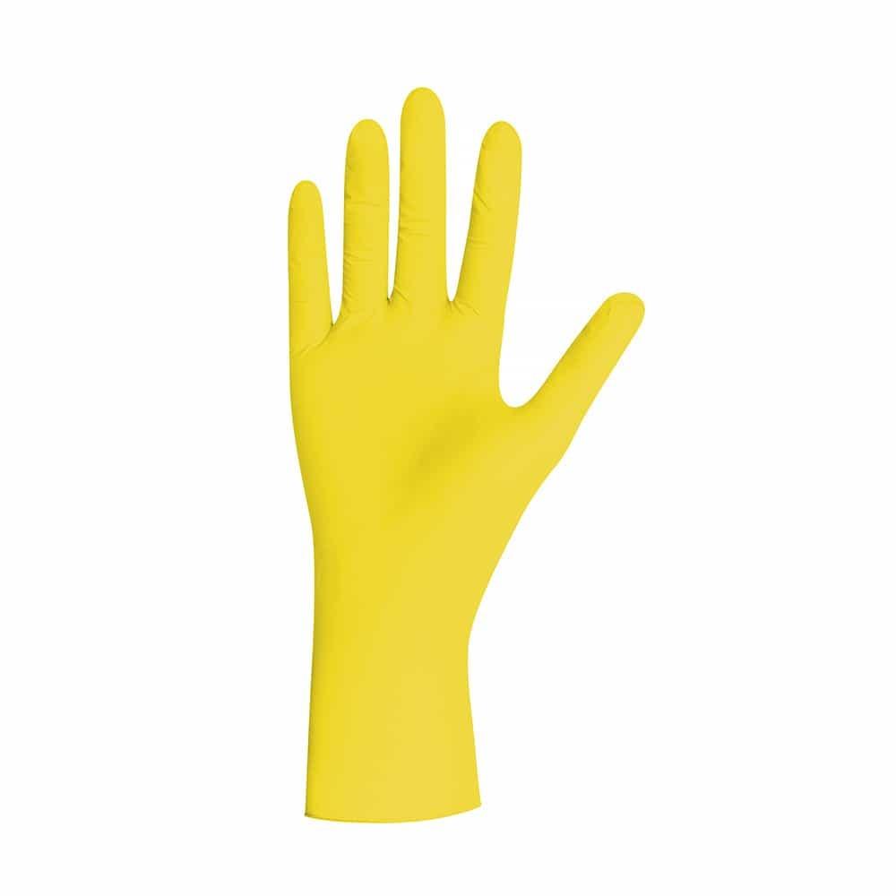 Gele nitril Pearl Yellow handschoenen x 100