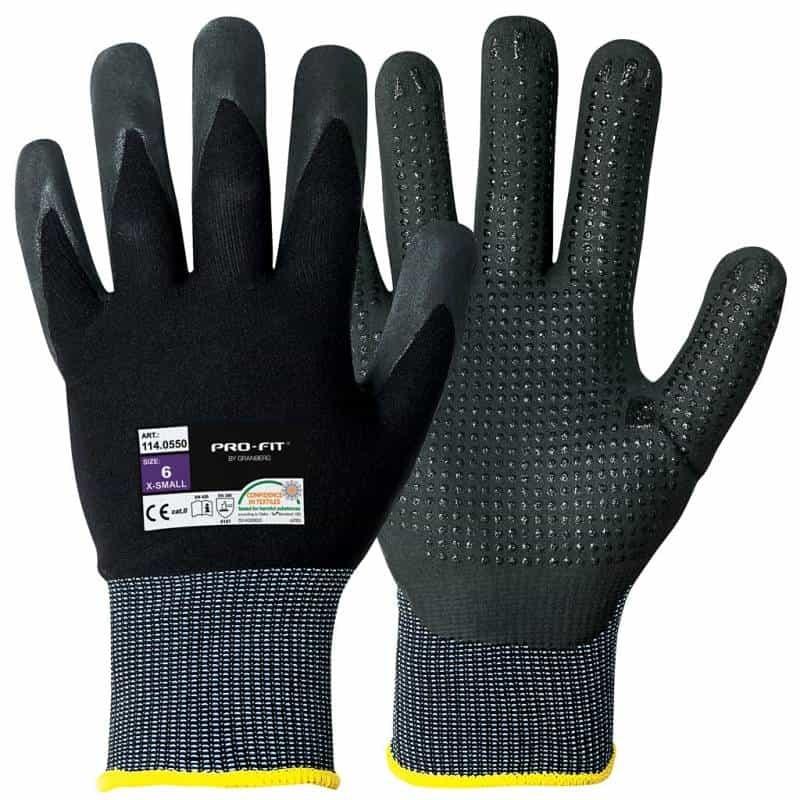 ProFit nitril werkhandschoen met micro-dots p. paar l/r