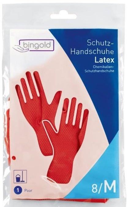 12 paar latex herbruikbare protectie handschoenen rood