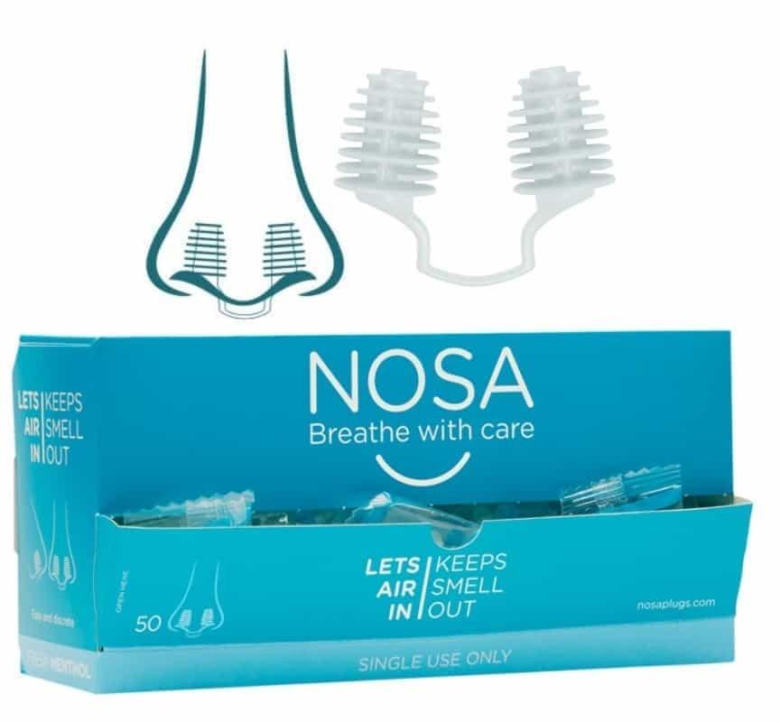 NOSA plugs anti-geur neusdopjes menthol