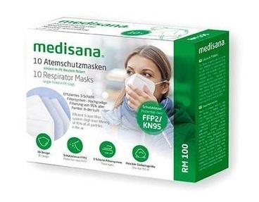 10x Medisana FFP2 CE  mondmaskers