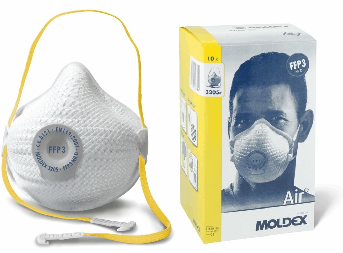 FFP3 mondmaskers met ventiel 10st