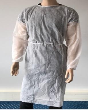 100x isolatiejassen wit PP non woven elastische mouw