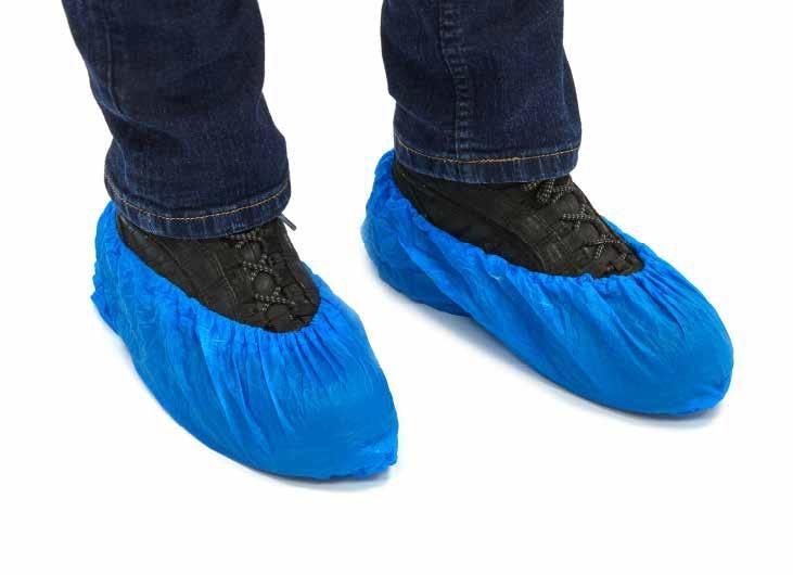Schoenbeschermers blauw PE 38cm zakje a 1000 stuks