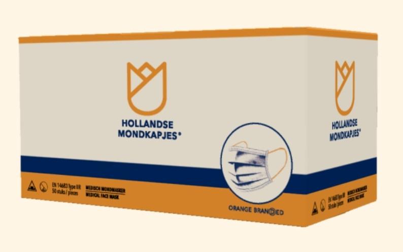 HMK  Hollandse MondKapjes HMK oranje oorlussen 50st