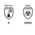 PH Handsafe GN91 nitril handschoenen EN374-5 virus