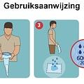 Dr Helewa Urine hygienische opvangzak Heren 600ml
