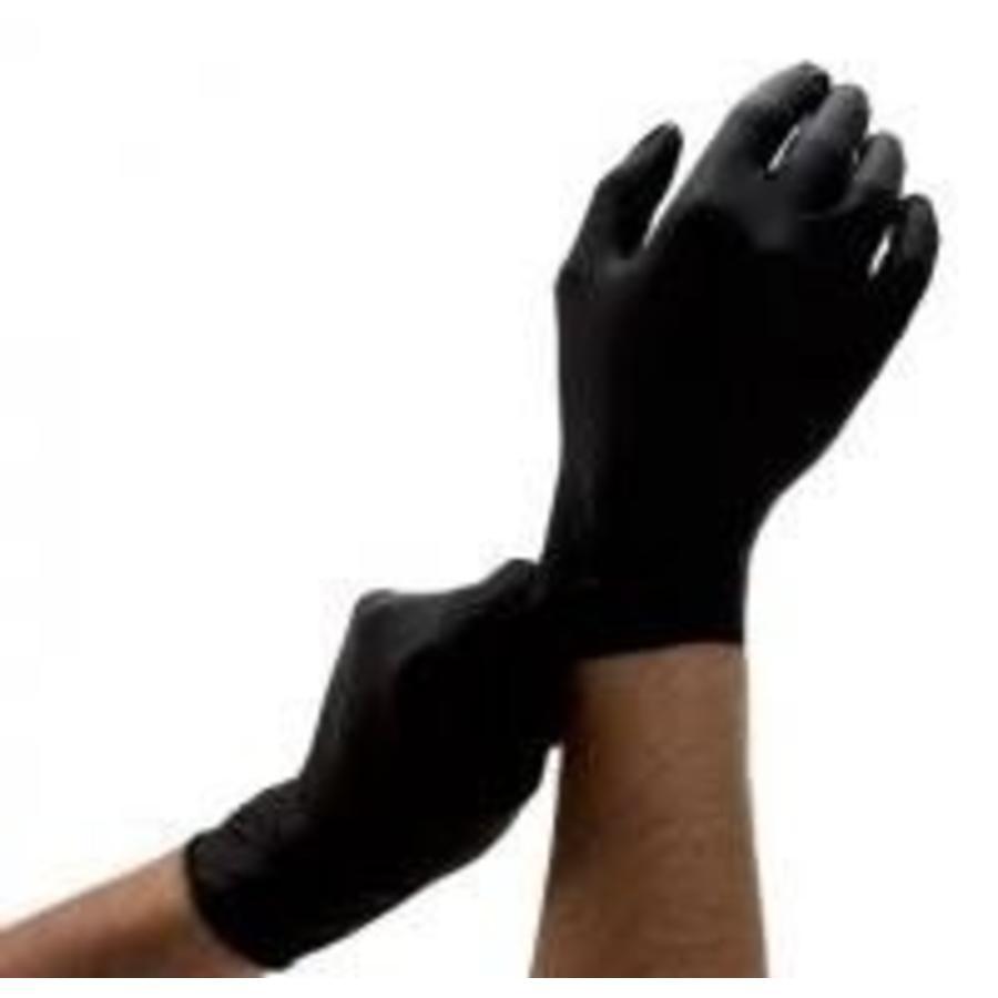 Nitril handschoenen ZWART 100 st