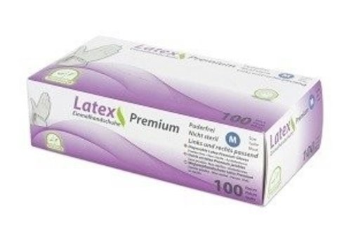 Latex handschoenen Premium soft grip 100 st