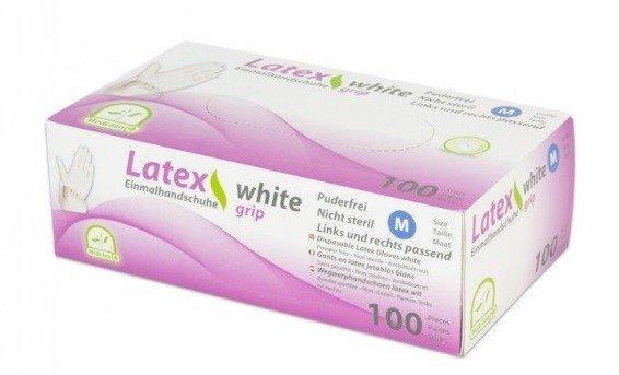 Medi-Inn Latex GRIP WITTE medische handschoenen 100 st