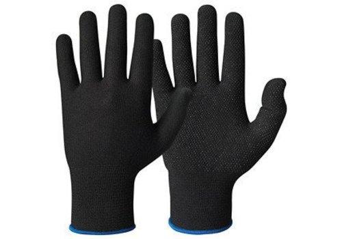 Katoenen handschoen ZWART micro-dots