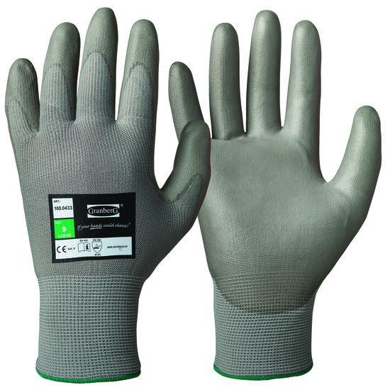 Werkhandschoen Polyester PU Flex p. paar l/r