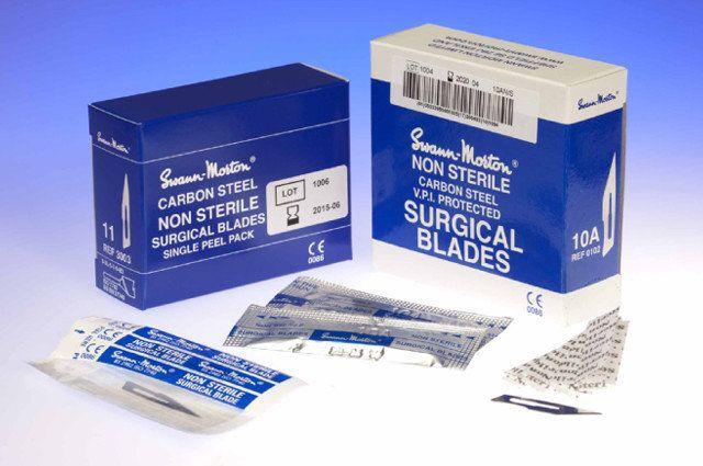 Scalpel mesjes 15 niet steriel blauw - per doosje