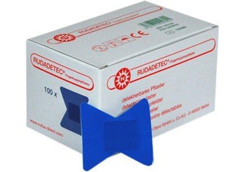 Rudadetec vingertop pleisters blauw detecteerbaar 100 st