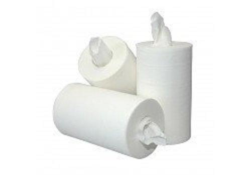 Papierrol MINI 12x rol 60 mtr zonder koker 2 laags