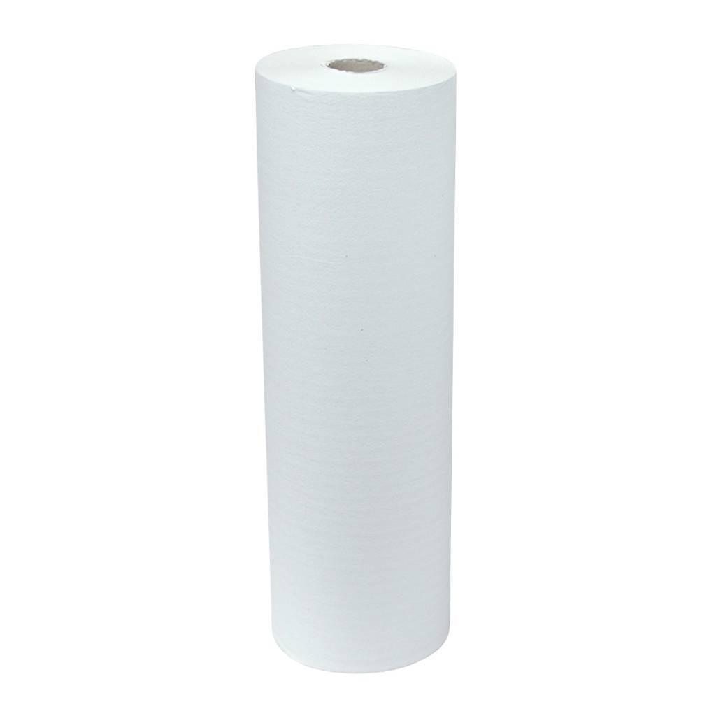 Onderzoektafelpapier 1 laags 5 rollen recycled wit