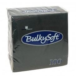 30x100 servetten zwart 24x24 2 laags