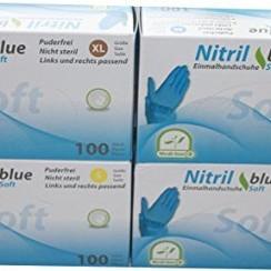 Soft Nitril blauwe medische handschoenen 100 st
