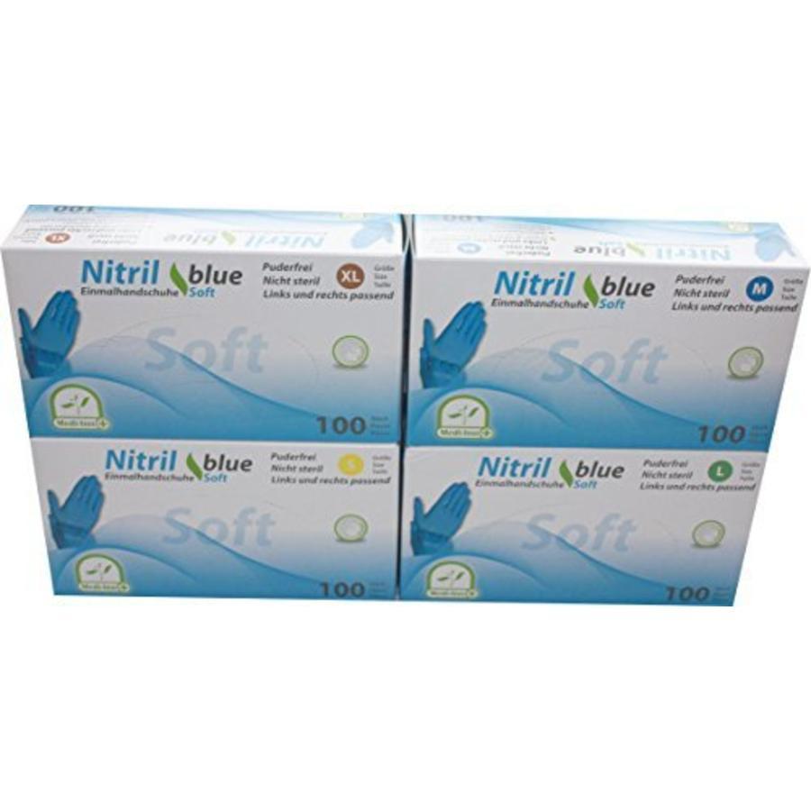 Soft Nitril handschoenen blauw 100 st