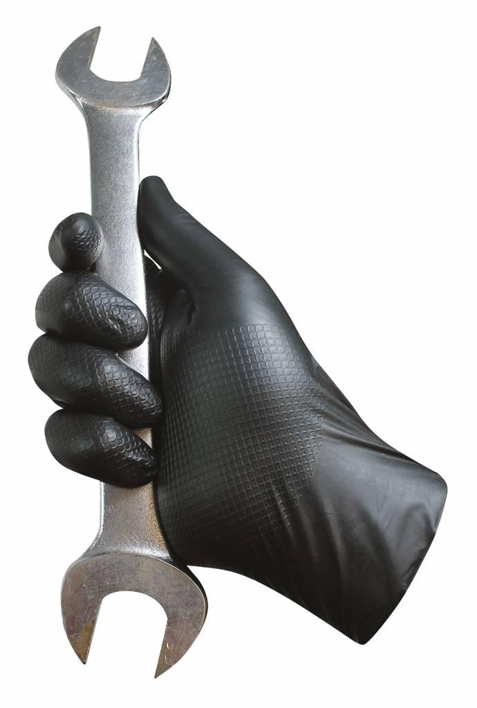 500x  Grippaz zwart nitril extra dikke semi disposable handschoen