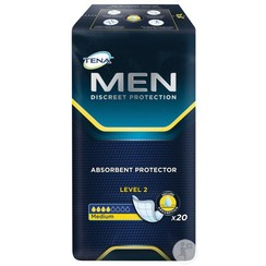 6x 20 Tena for Men Level 2 Medium incontinentie inleggers