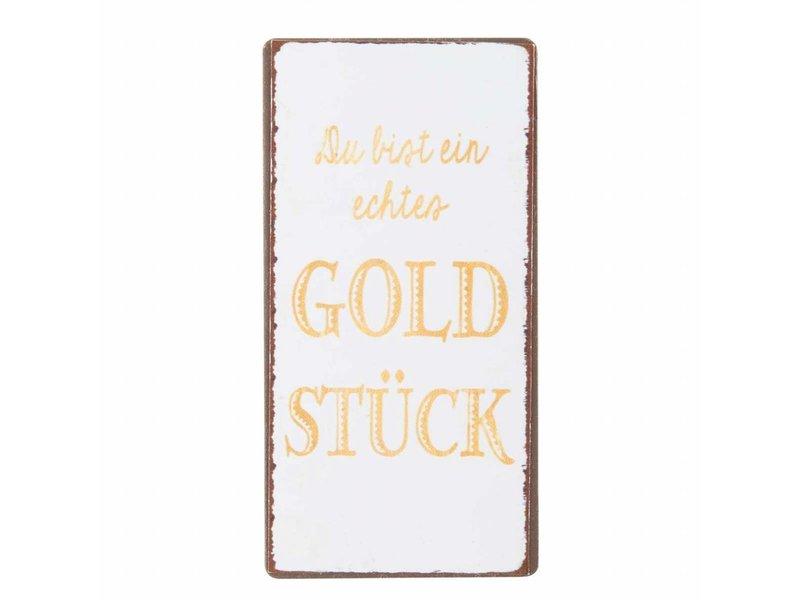 """IB LAURSEN Magnet """"Du bist ein Goldstück"""""""
