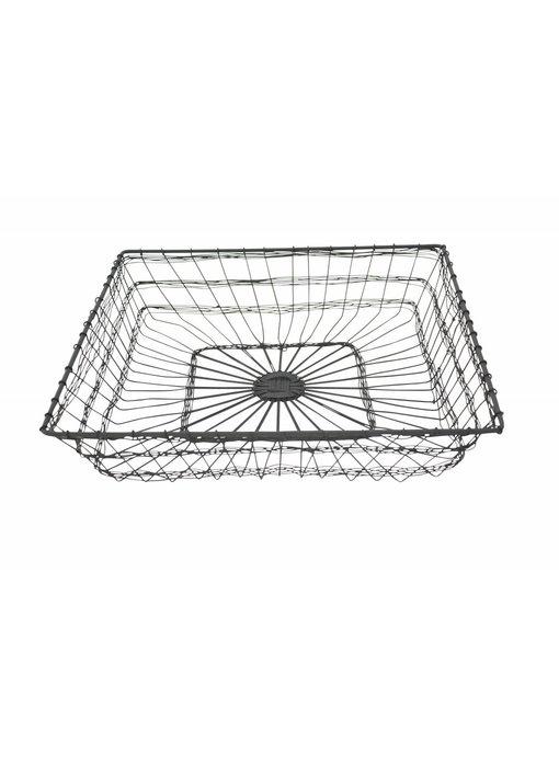 """Krasilnikoff Drahtkorb """"Basket square"""" groß"""