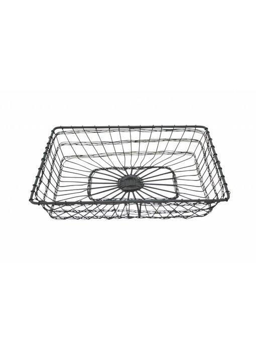 "Krasilnikoff Drahtkorb ""Basket Rectangular"" klein"