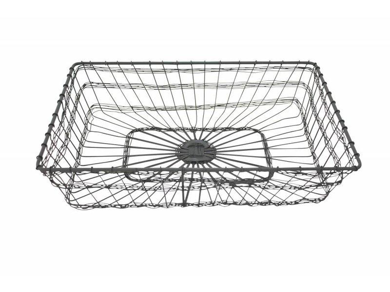 "Krasilnikoff Drahtkorb ""Basket Rectangular"" groß"