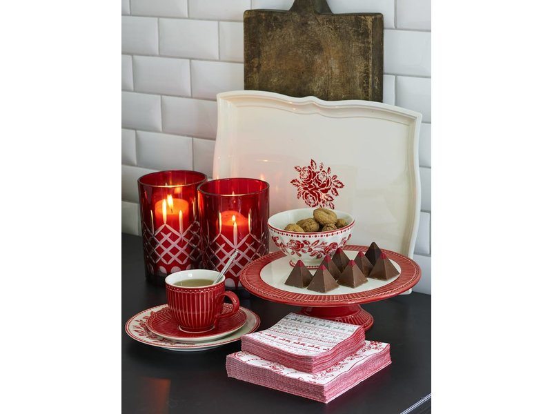 "GreenGate Tasse mit Unterteller ""Alice"" red"